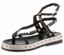 Sandalette schwarz / offwhite