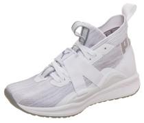 'Ignite evoKNIT 2' Sneaker hellgrau / weiß
