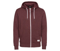 Sweatjacke 'Morgan Zip AM' weinrot