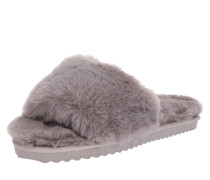 Slipper 'slide fur' grau
