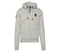 Zipped Jacket 'Birol Jeck VI' hellgrau