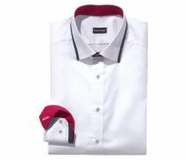 Businesshemd navy / rot / weiß