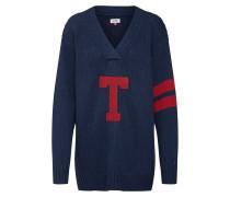 Pullover nachtblau / rubinrot
