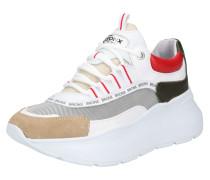 Sneaker 'Grayson' cappuccino / rot / weiß