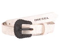 Ledergürtel 'b-Trit - belt' weiß