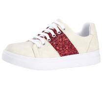 Sneaker beige / rotmeliert / weiß