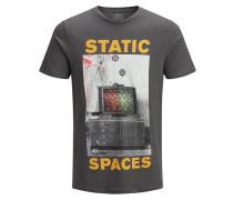 T-Shirt gelb / anthrazit / weiß