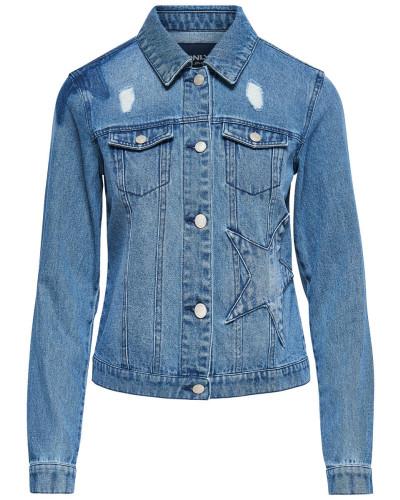 Detailreiche Jeansjacke blue denim