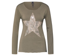 Shirt 'wls Star' beige / khaki