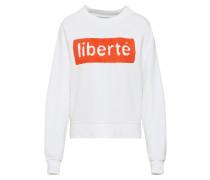 Sweatshirt 'onlLOTTA' orangerot / weiß