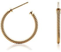Ohrstecker 'Hoop Rope' gold