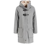 Mantel 'maddi' beige / graumeliert / schwarz
