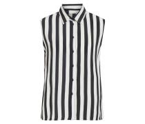 Ärmelloses Hemd weiß / schwarz