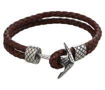 Armband 'Maritim' braun / silber