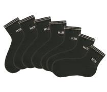Damenkurzsocken (7 Paar) schwarz