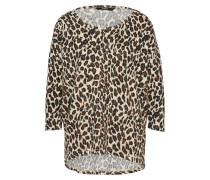Pullover Leoprint beige / schwarz