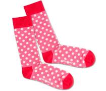 Socken 'Pinky Dots' pink / rot / weiß