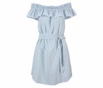 Off-Shoulder-Kleid hellblau