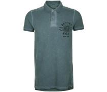 Poloshirt University grün / schwarz