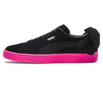Sneaker 'Suede Bow Block' pink / schwarz