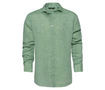 Hemd 'linnen Backstay' grünmeliert
