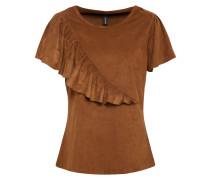 T-Shirt 'lourdes' braun