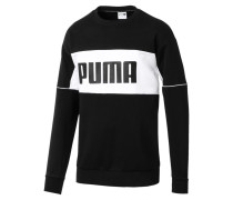 'Retro Crew' Sweatshirt schwarz