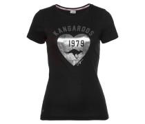 T-Shirt schwarz / silber
