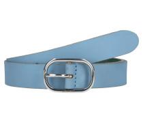 Ledergürtel 'Slim buff' blau