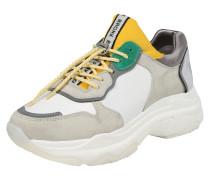 Sneaker Low gelb / hellgrau / weiß