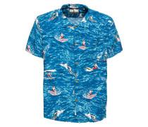Hemd 'Hawaiian' blau / mischfarben