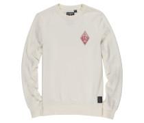 Sweatshirt 'Eye' rot / weiß