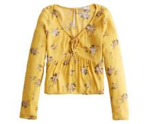 Bluse 'babydoll' gelb / mischfarben
