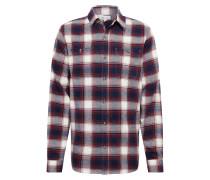 Hemd 'v-Ls Flannel' rot / schwarz / weiß
