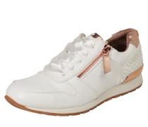 Sneaker mit Zipper bronze / weiß