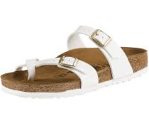 Sandale 'Mayari' braun / weiß