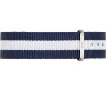 Textilband navy / weiß