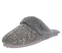 Slipper 'slip*knit' grau