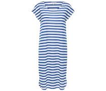 Jerseykleid 'Sfivy' blau / weiß