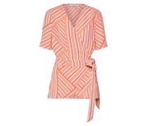 Bluse orange / weiß