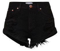 'ka2975' High Waist Denim Shorts schwarz