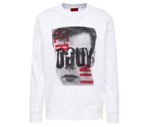 Sweatshirt 'Dision' mischfarben / weiß