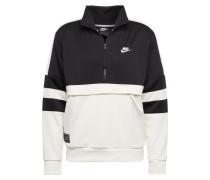 Sport-Sweatshirt schwarz / weiß