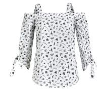 Bluse 'amata' schwarz / weiß