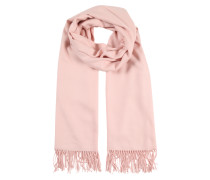 Schal mit Fransensaum rosa