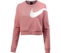 Sweatshirt Damen rosé / weiß