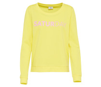 Sweatshirt 'unbrushed Box' limone