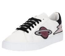 Sneaker Low 'Cherry Ufo' schwarz / weiß