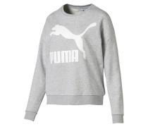 Sweatshirt graumeliert / weiß