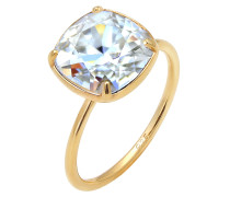 Ring Kristall Ring Verlobungsring gold